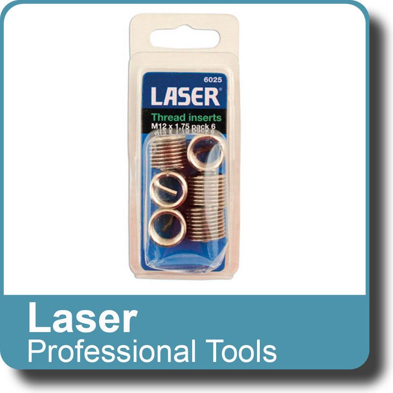 NEW Genuine LASER - Thread Insert M12x1.75 - Pack 6 6025
