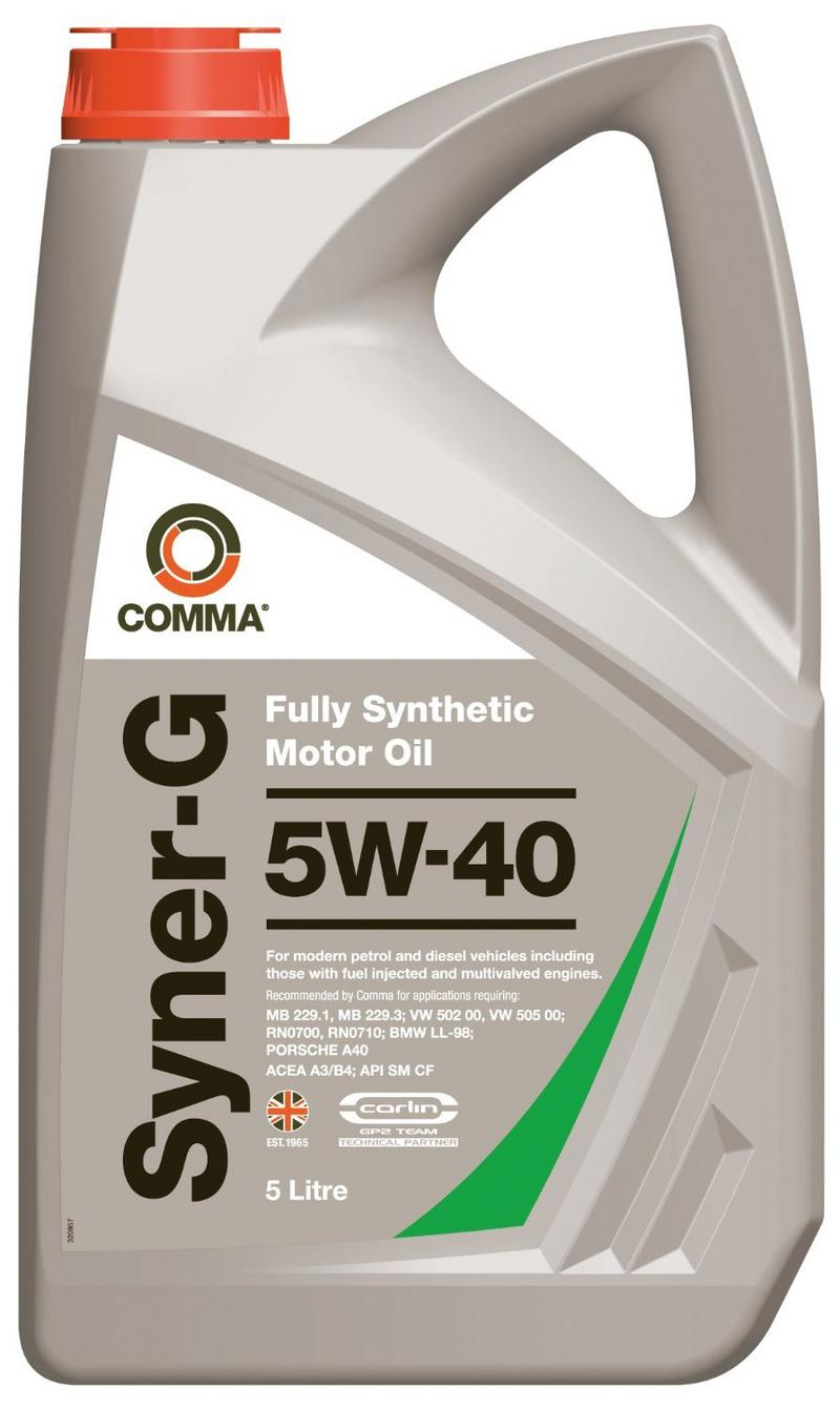 Comma SYN5L 5L Syner-G Full Synthetic 5W40 Motor Oil