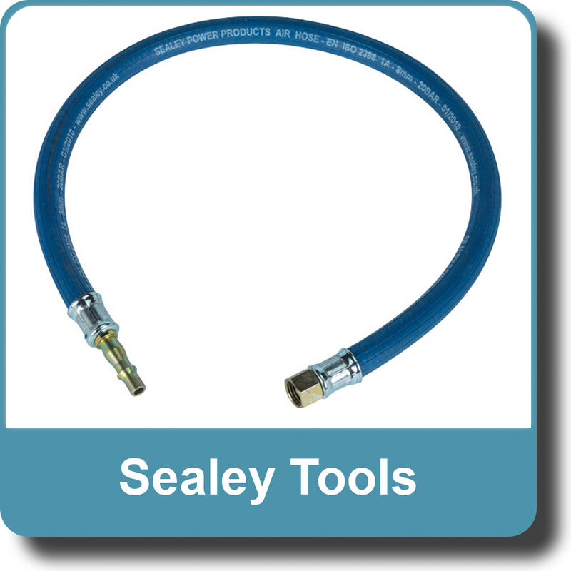 "Sealey Air Leader Hose 600mm x Ø8mm with Tail Piece & 1/4""BSP Union AH2R"