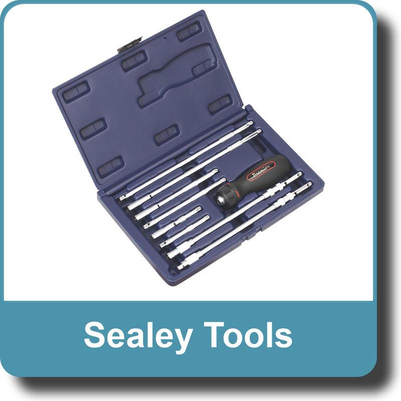 Sealey Ratchet Driver, Extension Bar & Bit Holder Set 9pc AK6494