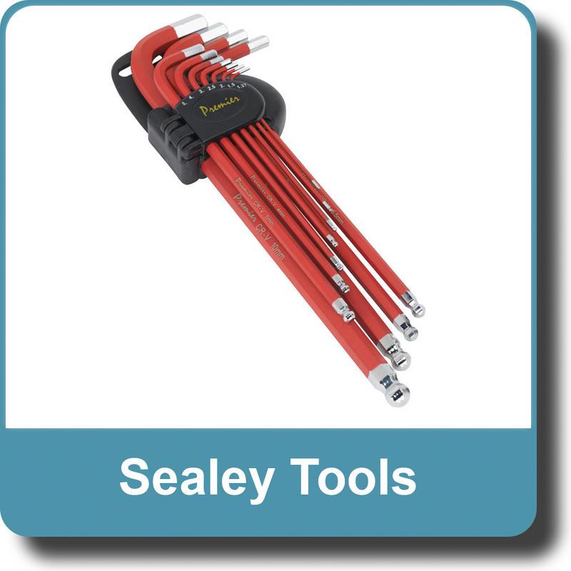 Sealey Ball-End Hex Key Set 11pc Anti-Slip Extra-Long Metric AK7164