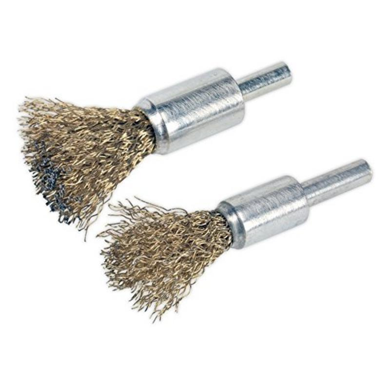 Sealey Decarbonising Brush Set 2pc VS1801
