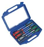Sealey - Screwdriver Set with Carry-Case 21pc GripMAX®   (SEAAK4304)