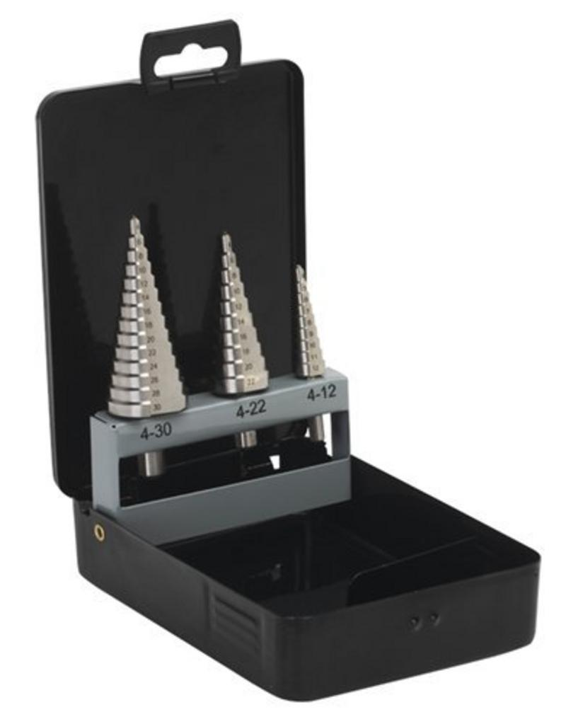 Sealey - Step Drill Set 3pc Metric   (SEAS0846)