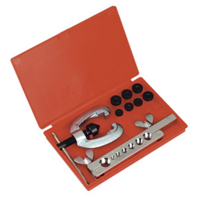 AK505 Sealey 9 Piece Single/Double Brake/Fuel Pipe Flaring/Flare Die Kit + Case