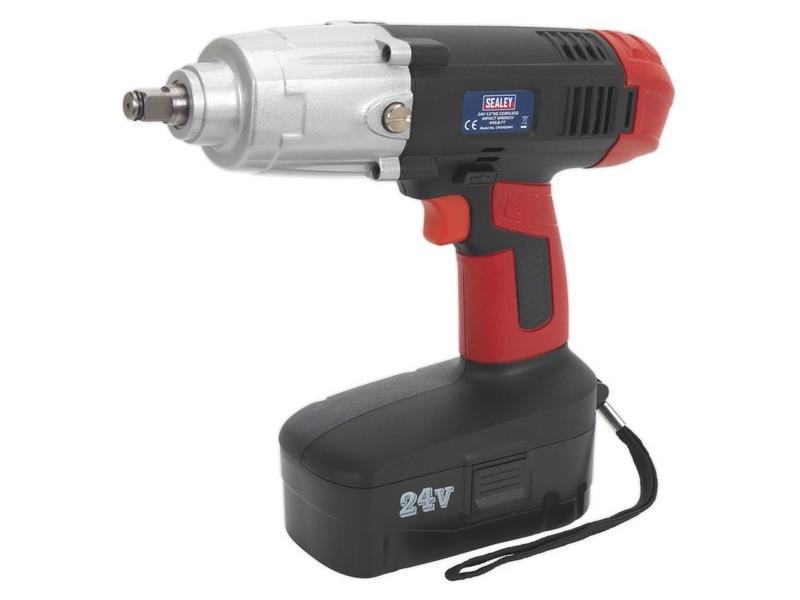 Sealey CP2450MH 24V 2Ah Ni-MH Impact Wrench 1/2InSq Dr 550 Nm 410 Lb,ft torque