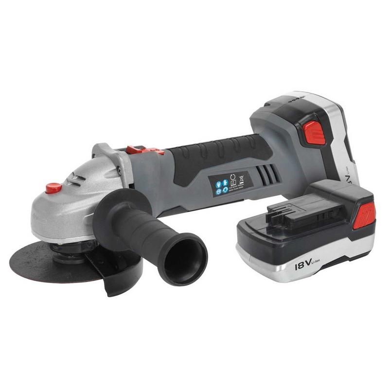 Sealey 18V 115mm  Cordless Angle Grinder 2 x Lithium ion Batteries I hour Charge