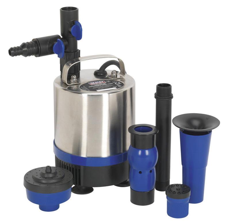 Sealey WPP1750S Garden Fountain Submersible Pond Pump Steel 1750ltr/ hr 230V