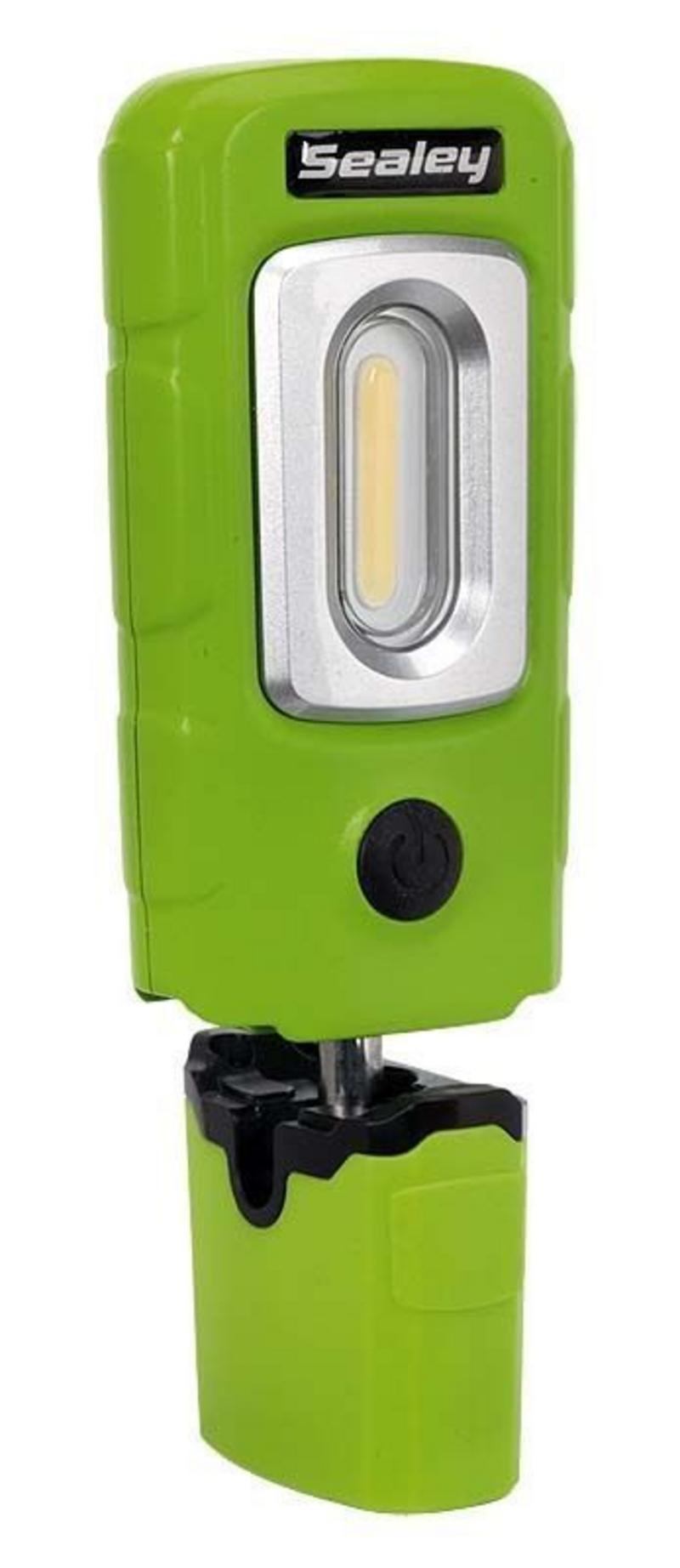 Sealey LED3601G Rechargeable 360° Inspection Lamp 2W COB+1W LED Green Lithium-Po