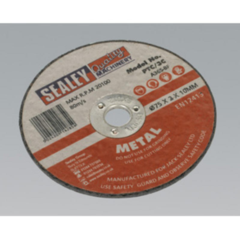 Sealey Cutting Disc Ø75 x 2mm 10mm Bore PTC/3C