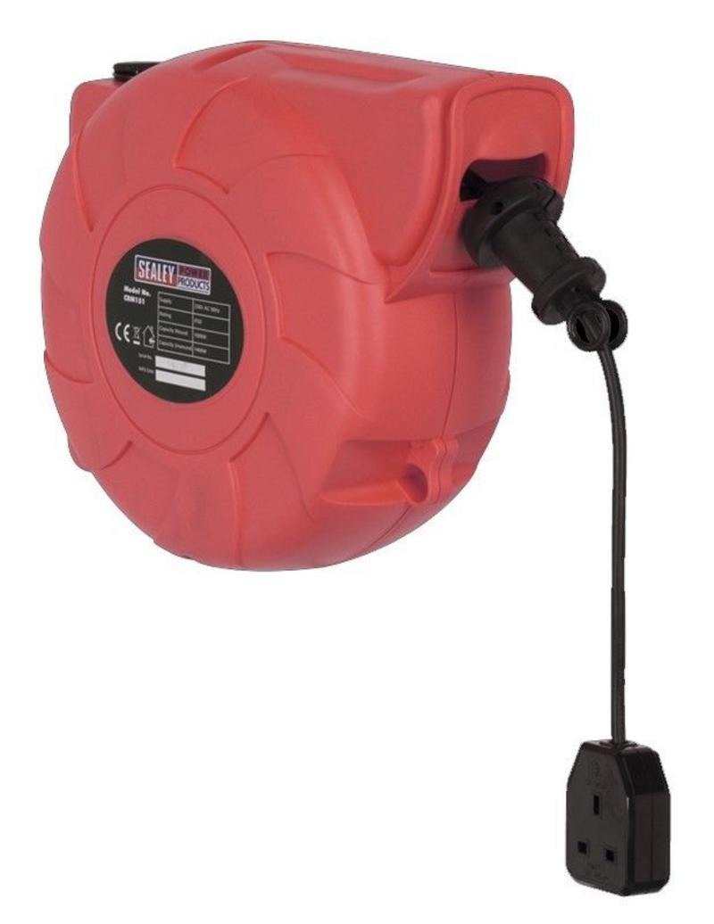 CRM151 SEALEY Garage Workshop Retractable Cable Reel 15 Metre 1 x 240v Socket