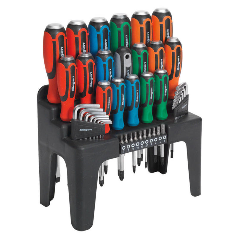 Sealey Hammer-Thru Screwdriver, Hex Key & Bit Set 44pc S01106