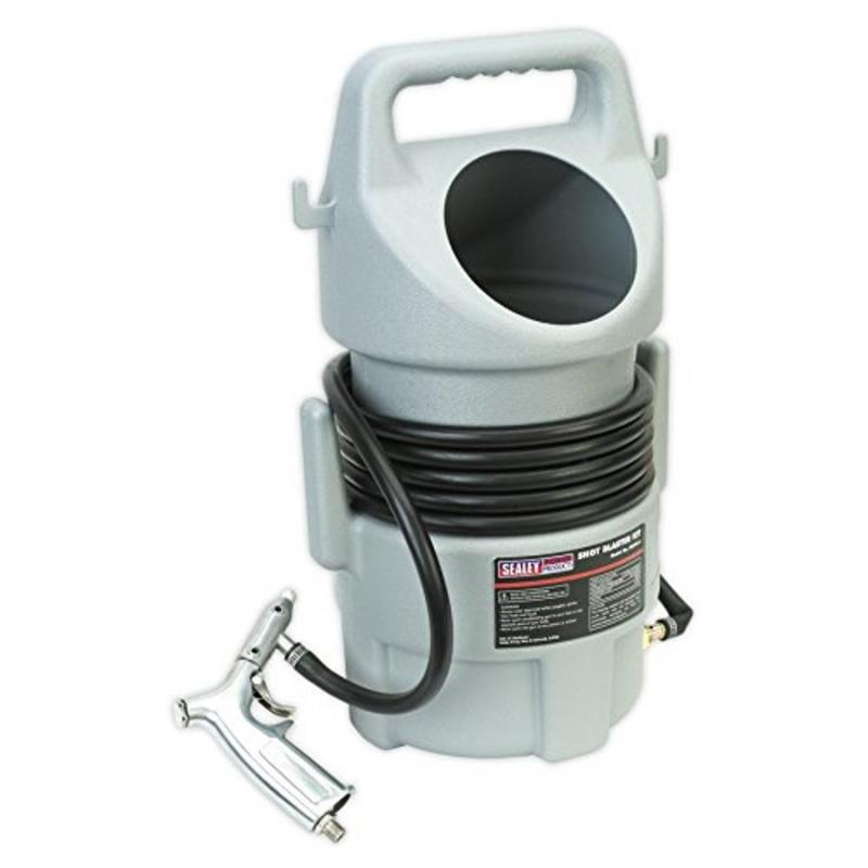 SB993 Sealey Shot Blasting Kit 22kg Capacity WITH A 4.5 metre hose and HD gun
