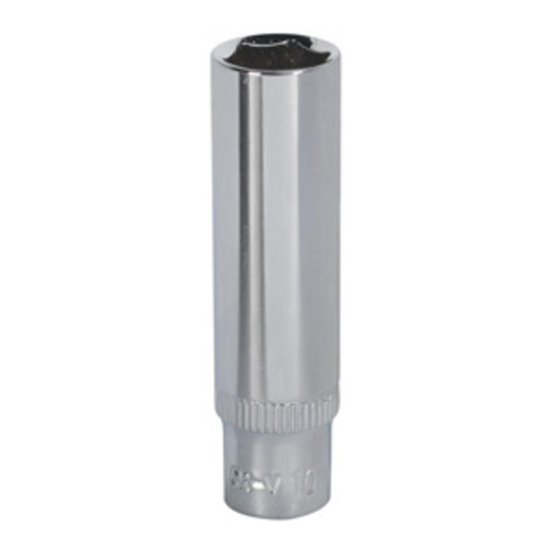 "Sealey WallDrive® Socket 10mm Deep 1/4""Sq Drive Fully Polished SP1410D"