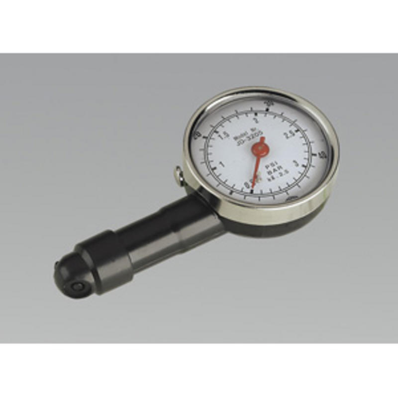 Sealey Tyre Pressure Gauge Dial Type TUV/GS Approved TST/PG97