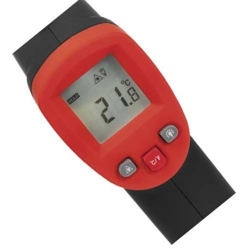 Sealey Infrared Laser/Lazer Digital Thermometer 12:1 (-50 to +550c) INC 9 V CELL