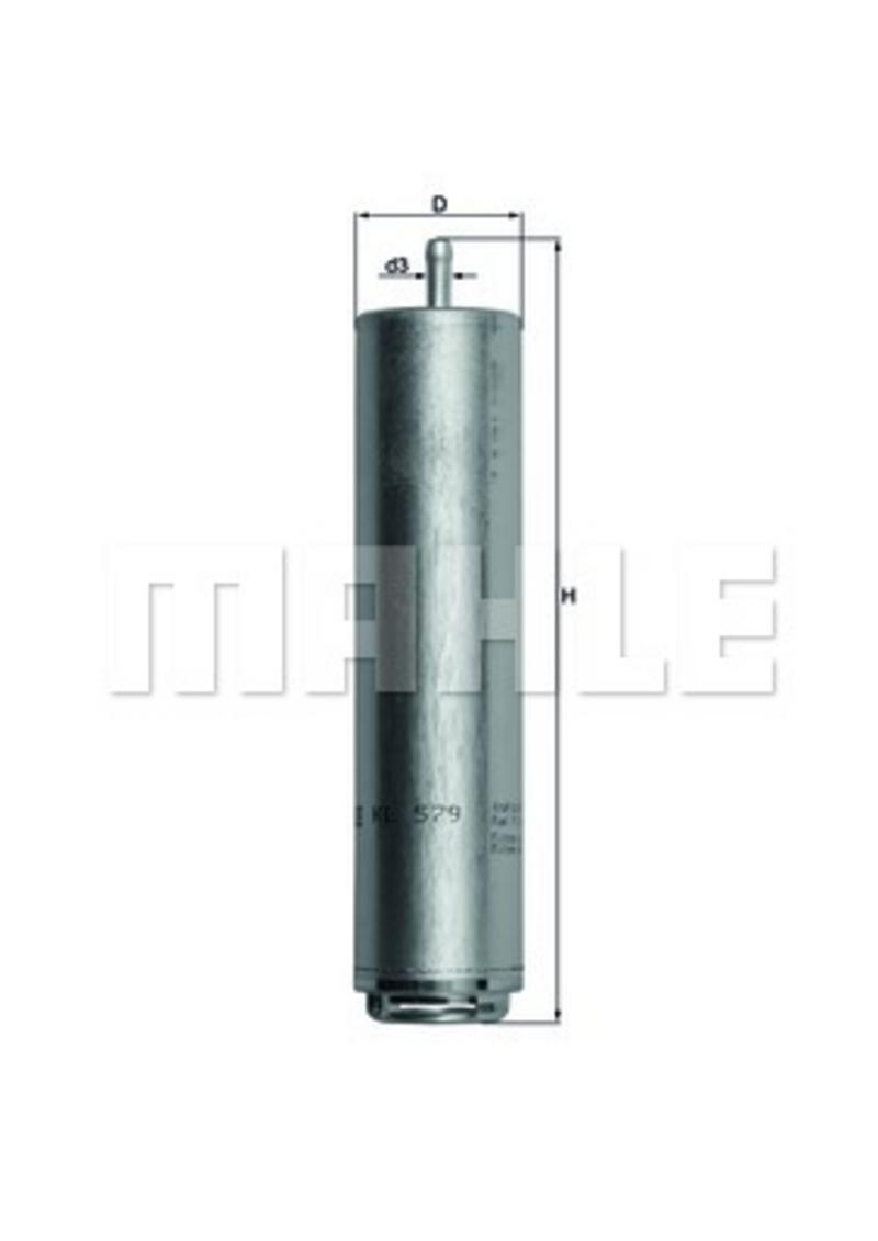 MAHLE KL579D Inline Fuel Filter