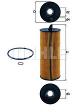 MAHLE OX361/4D Oil Filter Element