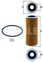 MAHLE OX368D1 Oil Filter Element