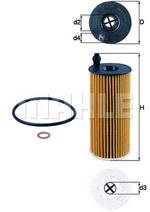 MAHLE OX404D Oil Filter Element