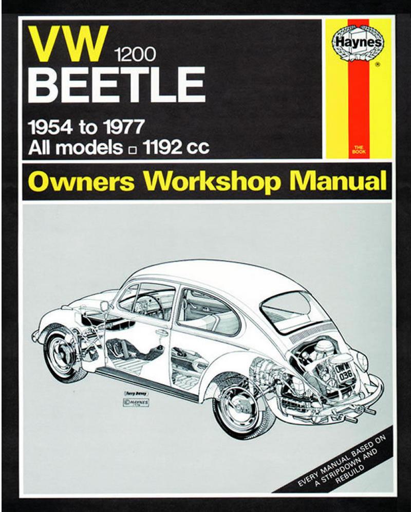 Haynes Manual 0036B VW Beetle 1200 1.2 Petrol 1954-1977 All Models 1192 cc