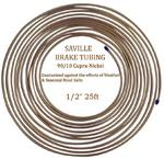 "Saville 1/2"" x 25ft (7.62 mtrs) Cupro Nickel Brake Pipe 90% Copper 10% Nickel"