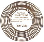 "Saville 3/8"" x 25ft (7.62 mtrs) Cupro Nickel Brake Pipe 90% Copper 10% Nickel"