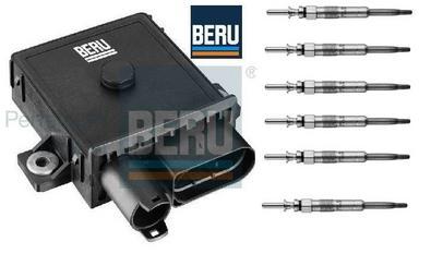 Glow Plug Control Unit Relay Module & 6 Glow Plugs  BMW E60 525,530,535d BERU Preview