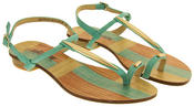 Womens BETSY Open T-Bar Toe Ring Sandals Thumbnail 4