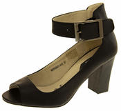 Womens Elisabeth Peep Toe Ankle Wrap Court Shoe