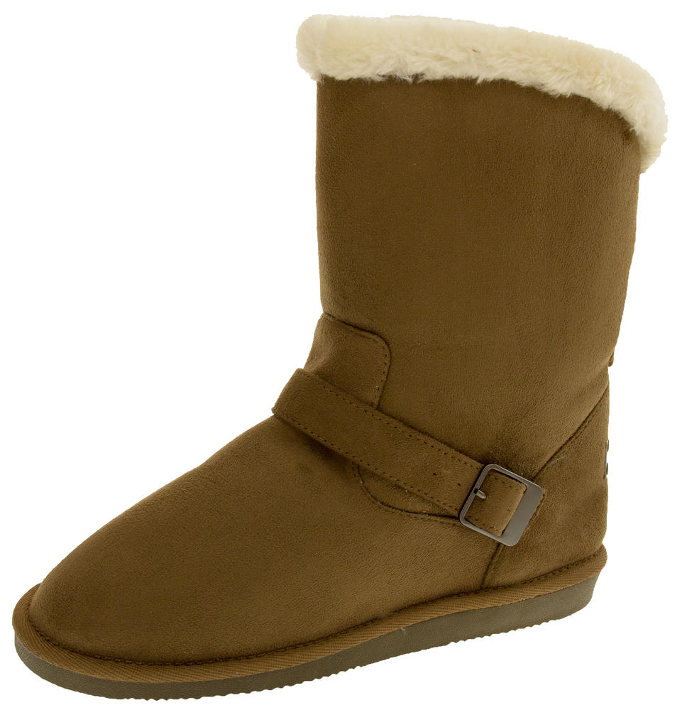 Ladies RED ROCK Faux Suede Warm Lined Winter Boots