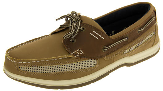 Mens Island Surf  Co. Synthetic Leather Deck Shoes