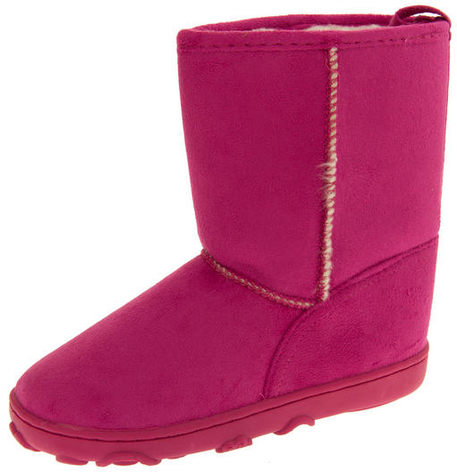 Girls Faux Suede Warm Lined Winter Hugg Boots