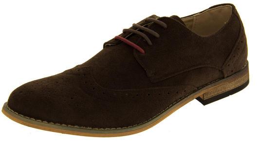 """Classic Mens """"Jack"""" Formal Faux Suede Smart Dress Brogue Shoes Mens Shoes"""