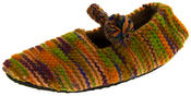 Ladies Kumfipumps Multicolour Knitted Ballerina Slippers