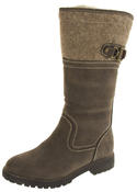 Ladies Keddo Faux Leather Fur Lined Biker Boots Thumbnail 7