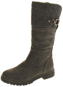Ladies Keddo Faux Leather Fur Lined Biker Boots Thumbnail 4