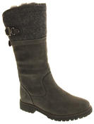 Ladies Keddo Faux Leather Fur Lined Biker Boots Thumbnail 5