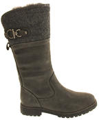 Ladies Keddo Faux Leather Fur Lined Biker Boots Thumbnail 6