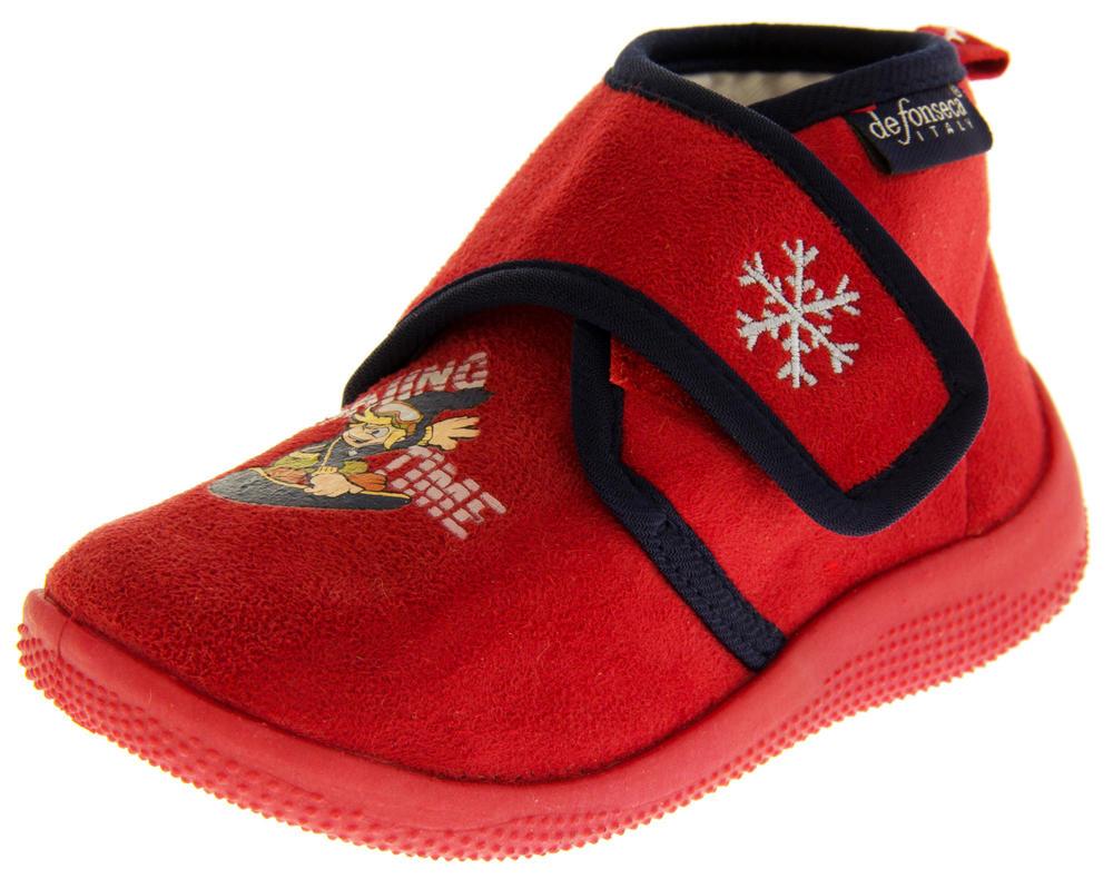 Boys De Fonseca Poloski Velcro Strap Boot Slippers