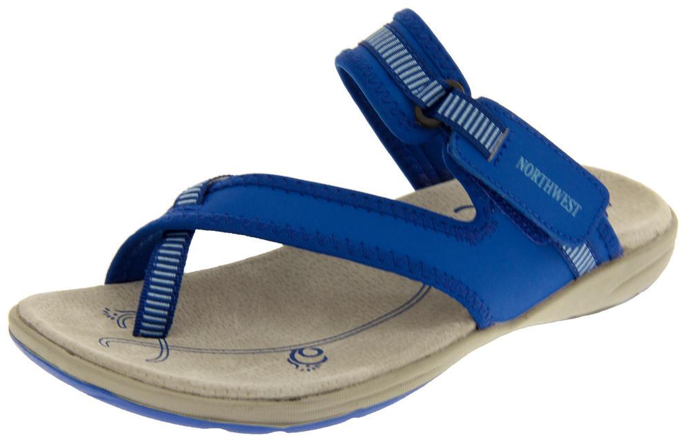Ladies Northwest Territory Miami Leather Toe Post Sandals