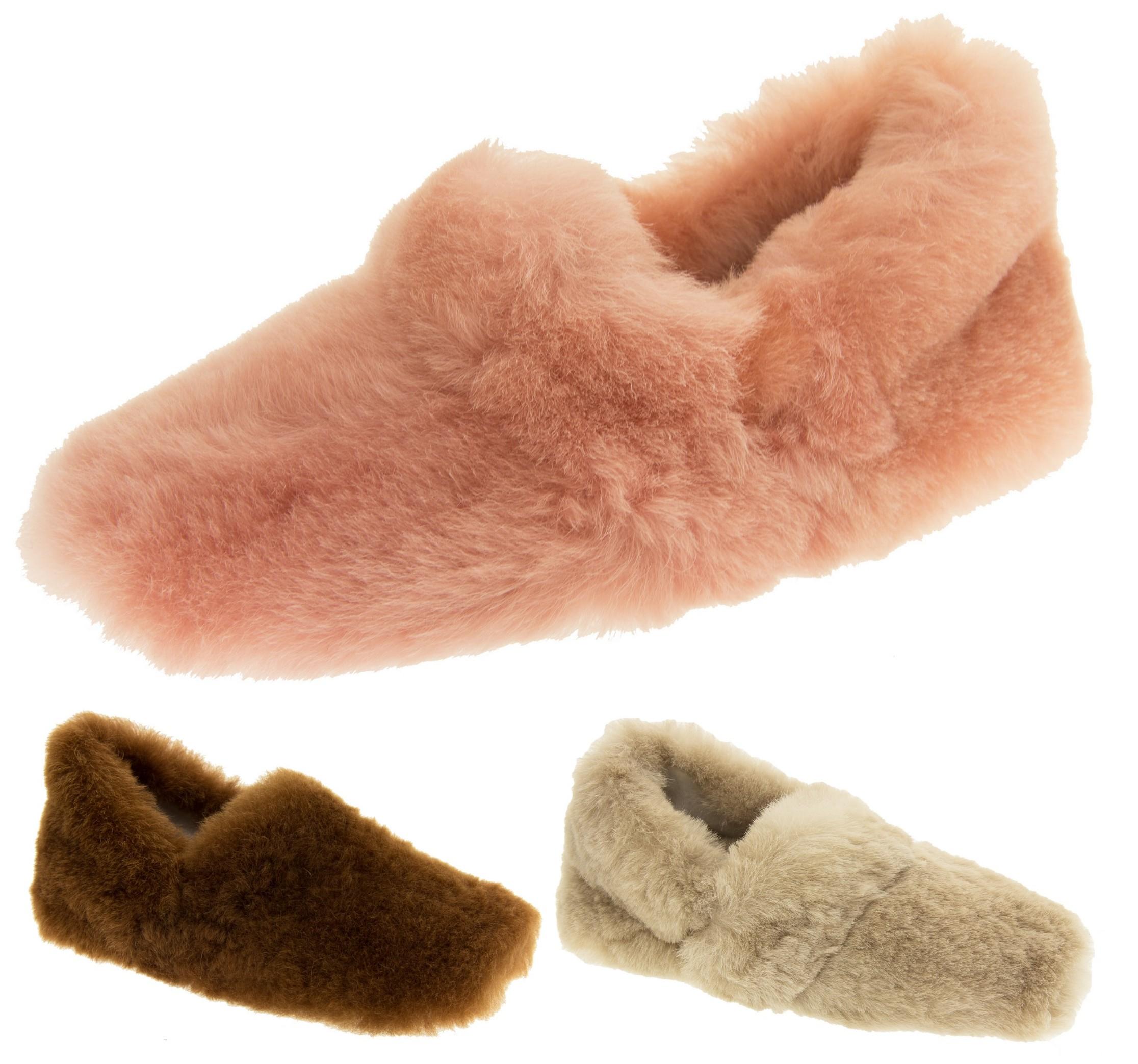 Somerset Footwear Ltd. Damen Echte Lammfell Hausschuhe Luxus Beige EU 38 Footwear Studio 7Tul8YQlo