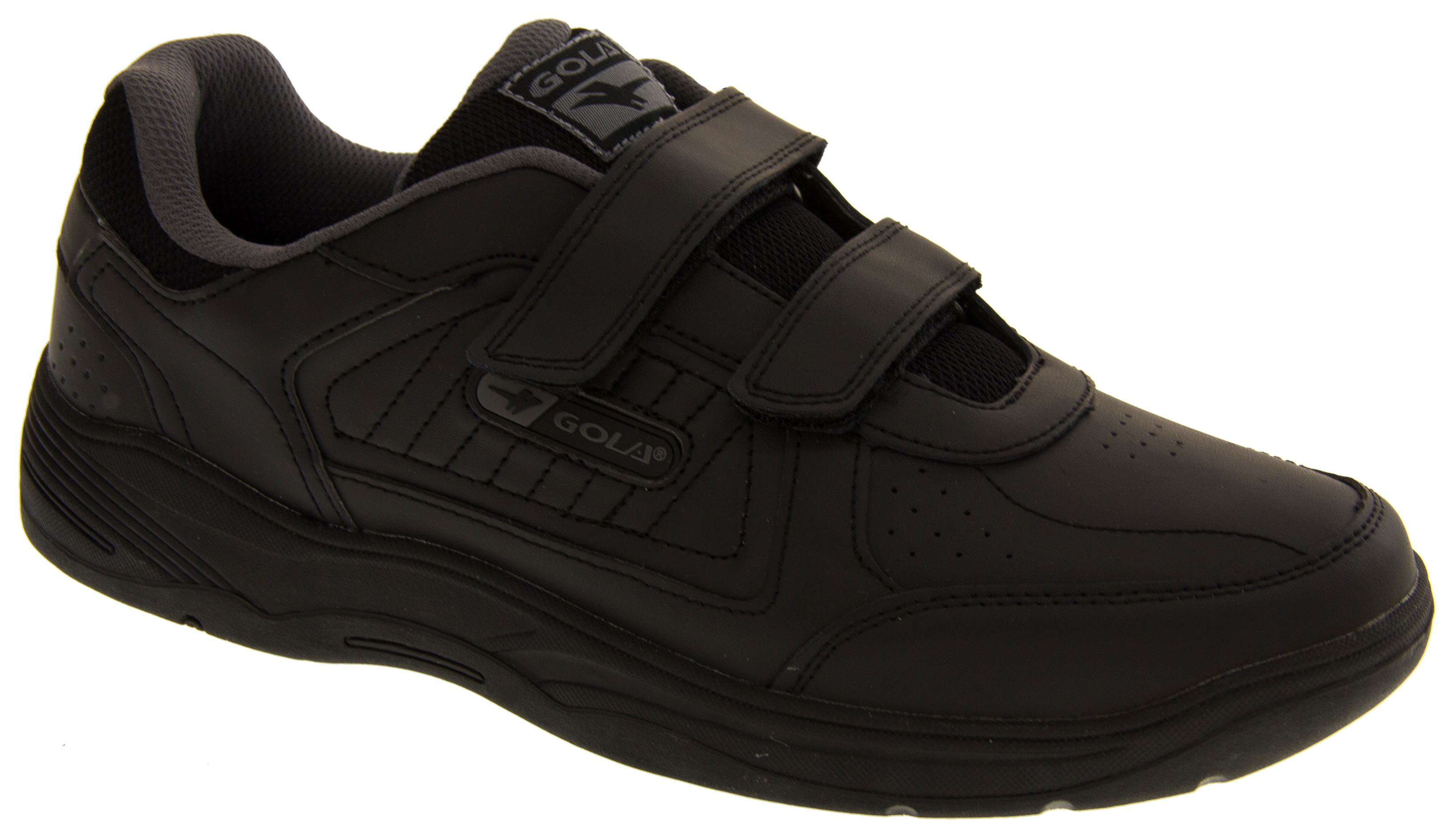 Gola Herren Belmont Echtes Leder Klettverschluss Weit Sitzende Schuhe Turnschuhe