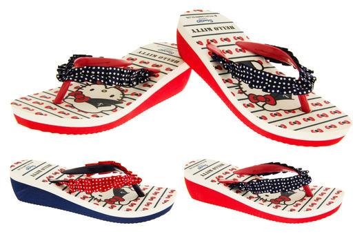 Girls Hello Kitty Toepost Wedges Sandals