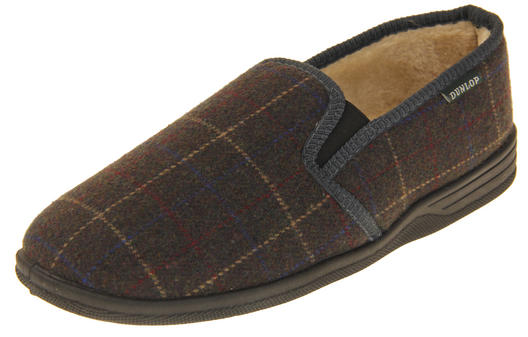 Mens Dunlop Faux Fur Lined AMAURI Slippers