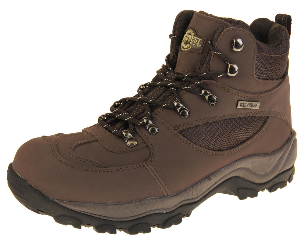 Mens Waterproof Northwest Territory Leather Hiking Boots