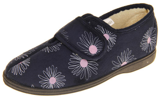 Womens Touch Fastening Slippers
