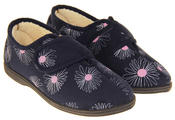 Womens Touch Fastening Slippers Thumbnail 3