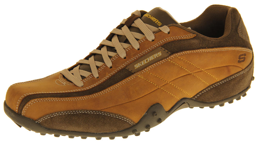 Mens Leather SKECHERS Imperial Trainers