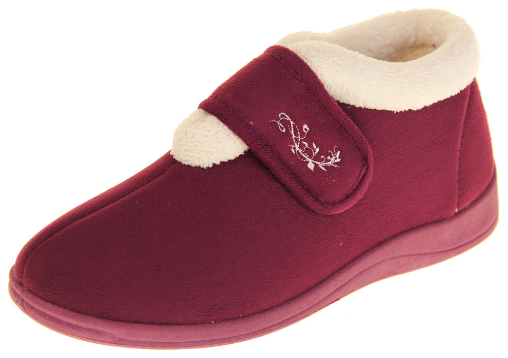 Womens Dunlop Fleece Lined Wide Fit Boot Slippers